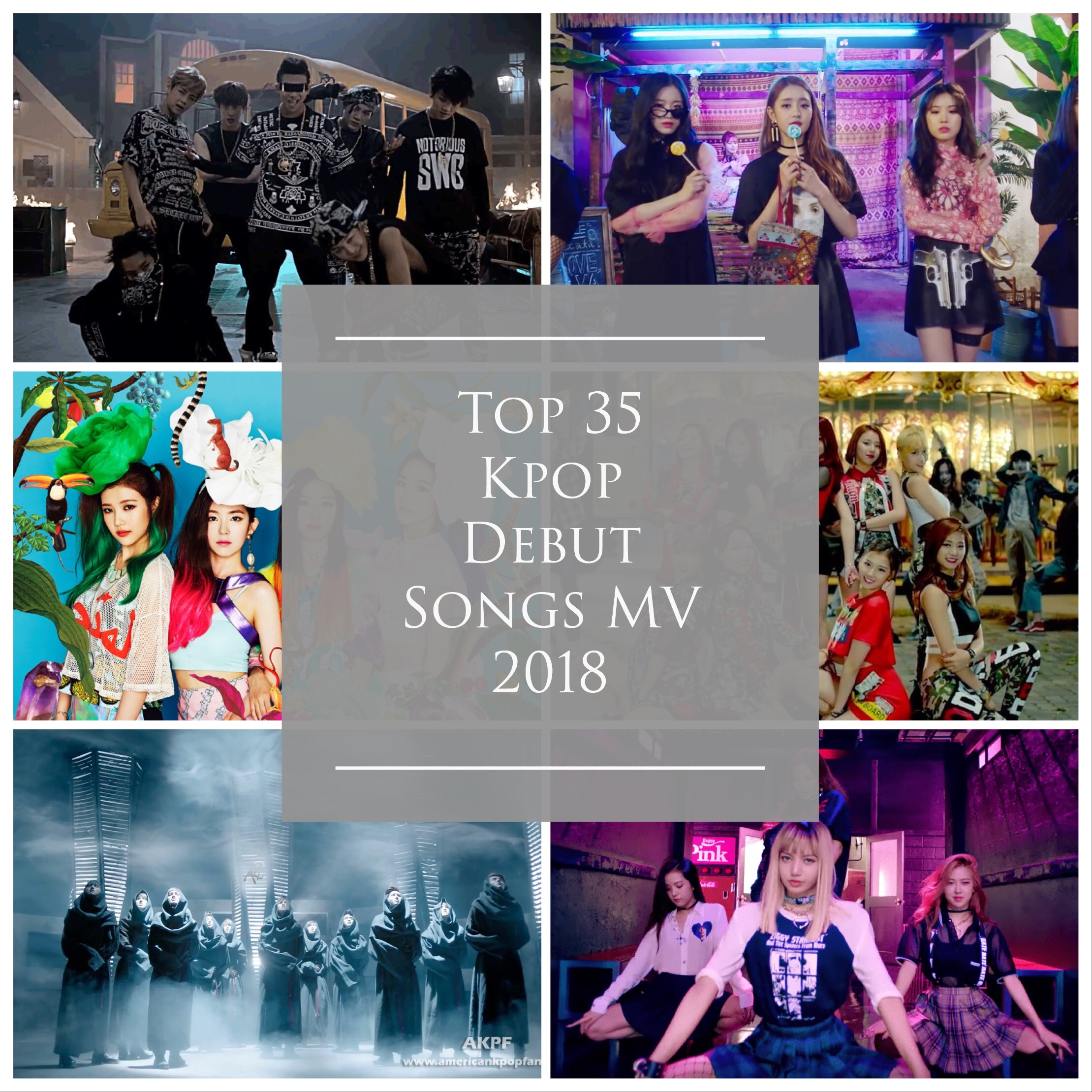 Top 35 Kpop Debut Songs MV 2018