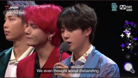 BTS Almost Disbanded Speech MAMA Hong Kong 2018
